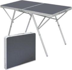 Antraciet-grijze AMANKA Stevige aluminium kampeertafel 120x60x70cm Stevige klaptafel van aluminium klaptafel Aluminium kl...