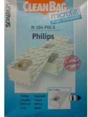 Witte Scanpart CleanBag M184PHI8 Stofzuigerzak MicroFleece+ Philips Olso+