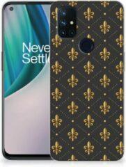 B2Ctelecom Backcase Siliconen Hoesje OnePlus Nord N10 5G Telefoonhoesje Franse Lelie
