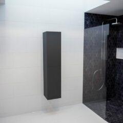 Donkergrijze MONDIAZ BEAM 160cm kolomkast kleur dark grey met 2 deuren PC75341330