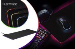 Oranje Dutch Originals DUTCH ORGINALS Gaming Muismat, Met LED, 9 kleuren, Instelbare helderheid, Anti slip, 80x30CM