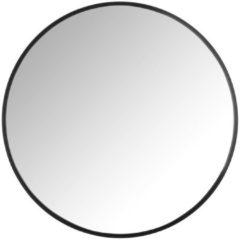 Xenos Spiegel rond met metalen lijst - diameter 60 cm