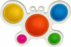 Blauwe Gsm marketing BV Simple Dimple (Vlinder) fidget toy - Tiktok trend - Pop it - fidget toys trend - Fidget dimple - Fidget toy Simple DImple - Gift