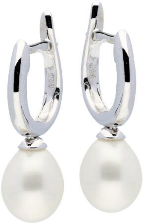 Afbeelding van Classics 107.0327.00 Oorringen zilver met zirconia en zoetwaterparel