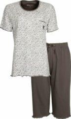 Tenderness Dames Pyjama Bruin Drie kwart broek TEPYD1001A Maten: 3XL