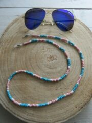Turquoise Merkloos / Sans marque Leuke brillenkoord