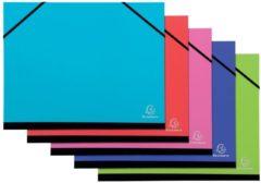 Excacompta tekenmap Iderama 28 x 38 cm, pak van 5 stuks in geassorteerde kleuren