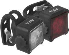 AXA LED Voor + Achterlciht Niteline 44-R USB Oplaadbaar Zwart