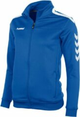 Witte Hummel Valencia Jacket Fz Ladies Sportjas Kinderen - Royal/White