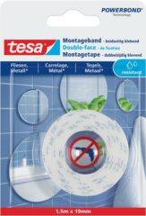 Witte 1x Tesa dubbelzijdig spiegel montagetape op rol voor tegels en metaal 1,5 meter - Klusmateriaal - Huishoudartikelen - Tesa Powerbond - Waterproof - Montagetape - Dubbelzijdig tape