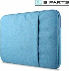 BParts - 13 inch Hoge kwaliteit Laptop sleeve - Beschermhoes laptop - Laptophoes - Extra zachte binnenkant - Lichtblauw