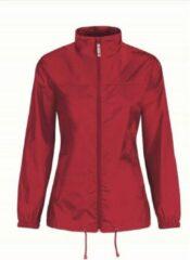 Merkloos / Sans marque Dames regenkleding - Sirocco windjas/regenjas in het rood - volwassenen