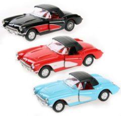 Lichtblauwe Fun & Feest Party Gadgets Speelgoedauto Chevrolet Corvette 1957 Licht blauw