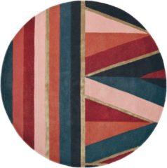 Ted Baker - Sahara Burgundy 56105 Vloerkleed - 150 cm rond - Rond - Laagpolig Tapijt - Klassiek - Meerkleurig