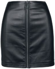 Urban Classics Ladies Faux Leather Zip Skirt Minigonna nero