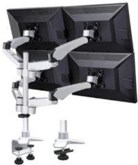 SpeaKa Professional Flex 4fach mit Grommet- und C-Klemme 4-voudig Monitor-tafelbeugel 25,4 cm (10) - 68,6 cm (27) Kantelbaar en zwenkbaar, Roteerbaar