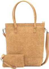 Bruine Zebra Trends Natural Bag Kartel Rits XL Camel 552201