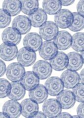 MTis Cadeaupapier Blauwe Cirkels- Breedte 30 cm - 100m lang - K601759-30cm-100Mtr