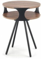 Home Style Bijzettafel Kirby 45x60x45 cm breed in donker sonoma eiken