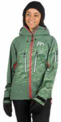 Ortovox - Women's 3L Guardian Shell Jacket - Skijack maat L, olijfgroen/grijs