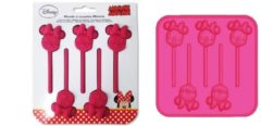Roze Easy Licences International Silicone bakvorm 1x lollie Minnie en 1x Mickey Mouse t.b.v Chocolade