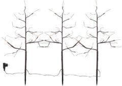 Star Trading 3er Set LED Baum mit Erdspieß, Klassik