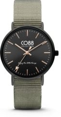 CO88 Collection Watches 8CW 10037 Horloge - Nato Band - Ø 36 mm - Grijs