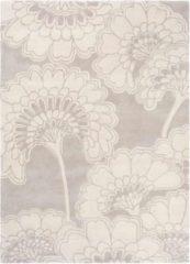 Florence Broadhurst - Japanese Floral 39701 Vloerkleed - 120x180 cm - Rechthoekig - Laagpolig Tapijt - Klassiek - Grijs, Wit