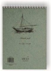 Bruine SMLT Ringband Schetsen A5 90gr 70 vel Wit