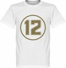 Merkloos / Sans marque Senna 12 Retro T-Shirt - Wit - L