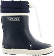 Donkerblauwe Bergstein Winterboot donkerblauw regenlaarzen uni