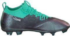 Fußballschuhe One 2 IL Leder FG mit sockenähnlicher Konstruktion 104755-01 Puma Color Shift-Biscay Green-Puma White-Puma Black
