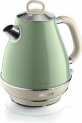 Beige Ariete Retro Waterkoker - 1,7 Liter Inhoud - Groen
