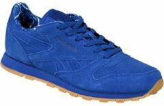 Blauwe Reebok Classic Leather TDC BD5052, Kinderen, Blauw, Sneakers maat: 34,5 EU