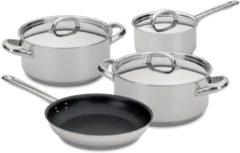 Zilveren 4-delige Pannenset - RVS - Silampos