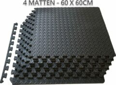A.K.A Sportmat 60 x 60 x 1 - 4 matten| puzzelmat – fitnessmat - XXL matten - yogamat