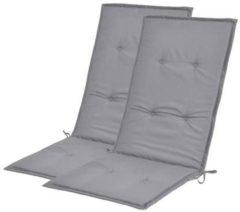 VidaXL Tuinstoel kussens grijs 120x50x3 cm 2 st