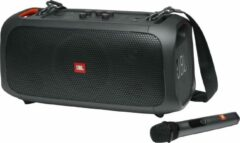 Zwarte JBL PartyBox On The Go - Draadloze Bluetooth speaker met schouderband