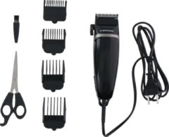 Zwarte DUNLOP Tondeuse - Krachtige 3 Watt Motor - met Snoer - 4 Opzetkammen - met Schaar en Kam