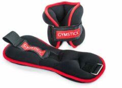 Zwarte Gymstick Enkelgewichten / Polsgewichten 2 x 2 kg - Met Online Trainingsvideo's