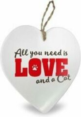 Witte Miko Hartje All you need is love and a cat