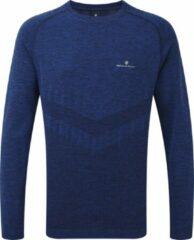 Blauwe Ronhill Mens infinity Marathon Long Sleeve Tee