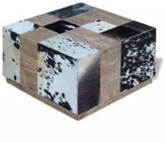 Beige VidaXL Salontafel echt koeienleer 60x60x36 cm