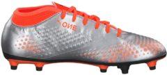 Fußballschuhe ONE 4 Syn FG mit rutschfester Nockensohle Puma Puma Silver-Shocking Orange-Puma Black