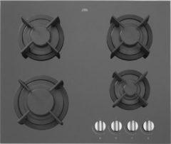 Zwarte Etna KGG860ZTA gas-op-glas gaskookplaat 60 cm met vlambeveiliging