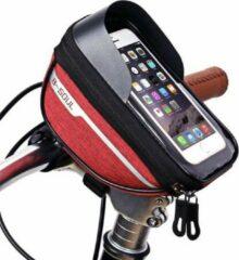 Sports4you Merkloos Stuurtas voor Smartphone - Telefoonhouder Fiets - Universele Fietstas - Extra Opbergruimte - Powerbank | Rood