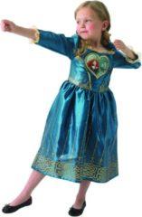 Blauwe Rubies Disney Merida Loveheart - Kostuum Kind - Maat 98/104 - Carnavalskleding