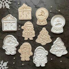 Happy bakers Kerst Uitstekers Set / Kerstkoekjes / Fondant Stempels / Koekjes Uitsteekvormen - 5 Stuks