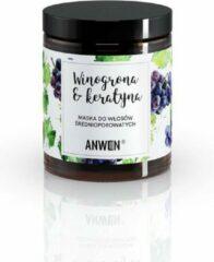 Anwen Masker voor medium-poreus haar Druiven en Keratine 180ml