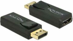 DeLOCK 65573 kabeladapter/verloopstukje Displayport 1.2 HDMI Zwart